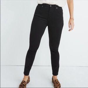 "Madewell 9"" High Rise Skinny Black Jeans 29"